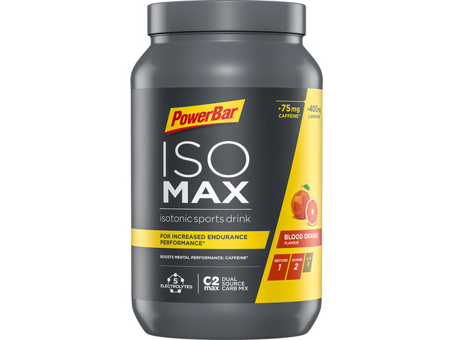 PowerBar Isomax Sports Drink Bidon 1200g, Blood Orange with Caffein